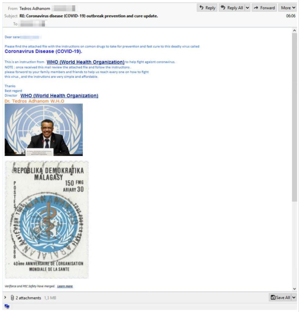 Hameçonnage incitant au téléchargement de document