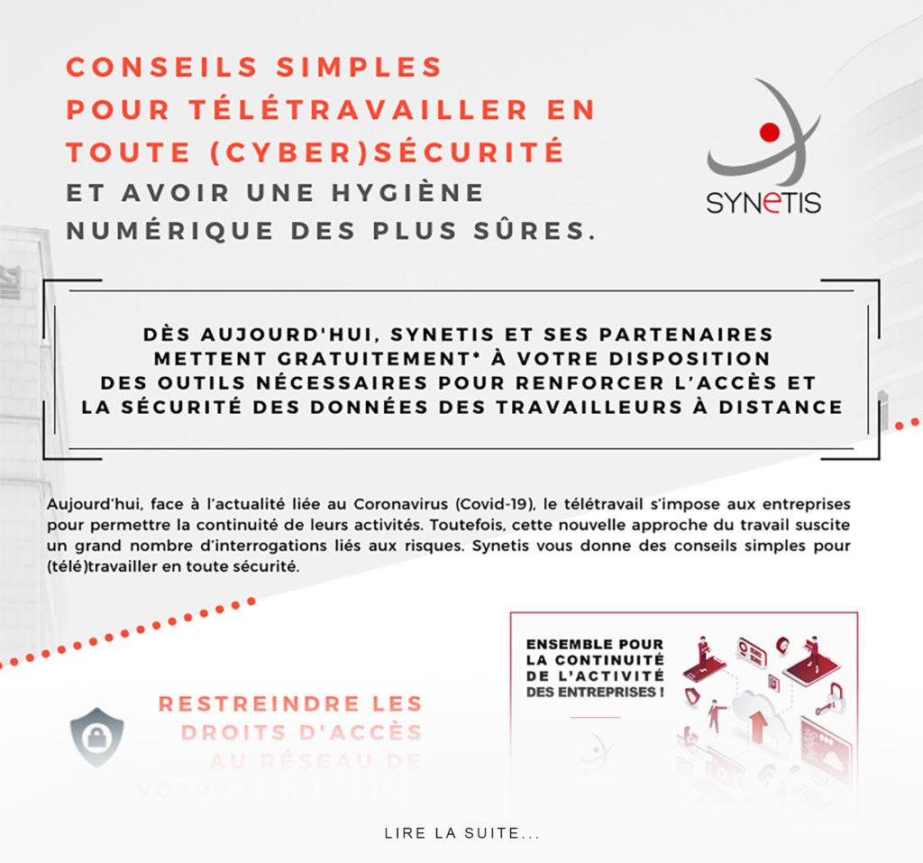 Read more about the article Conseils simples pour télétravailler en toute (cyber)sécurité.