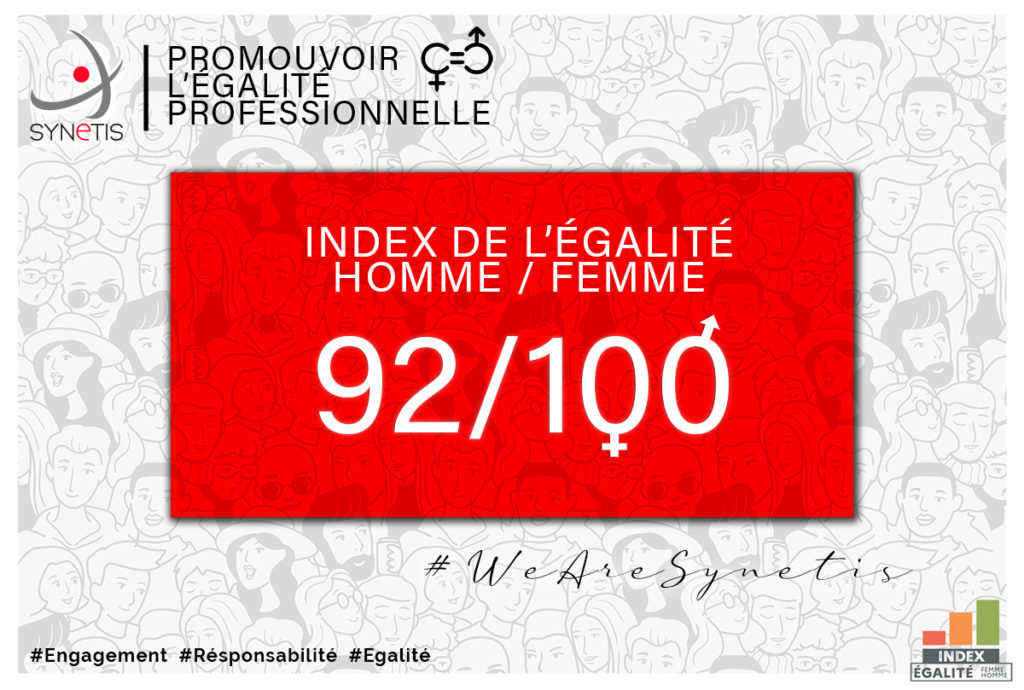 Read more about the article IndexÉgalitéProfessionnelle: excellent résultat pour Synetis